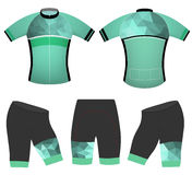 Green polygons cycling vest Royalty Free Stock Images