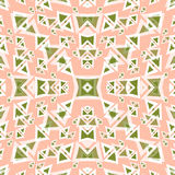 Green polygons on a gentle pink background Royalty Free Stock Image