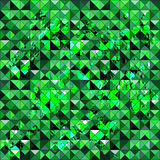 Green polygons small pixels grunge texture seamless pattern Royalty Free Stock Photo