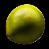 Green pomelo citrus fruit isolated on black background. With clipping path Royalty Free Stock Image