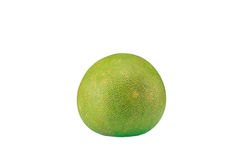 Green pomelo citrus fruit isolated on white background Royalty Free Stock Photos