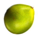 Green pomelo citrus fruit isolated on white background. With clipping path Royalty Free Stock Images