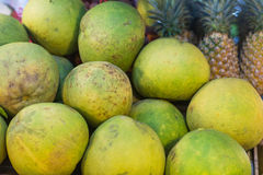 Green pomelo market Stock Photos