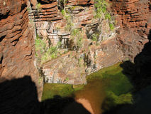 Green pond in Karijini National Park Royalty Free Stock Image