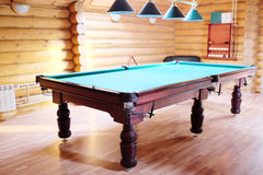 Green pool table Royalty Free Stock Images
