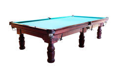 Green pool table Stock Images