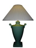 Green Porcelain Vase Lamp Royalty Free Stock Photography