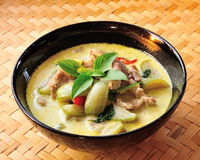 Green pork Curry Stock Photo