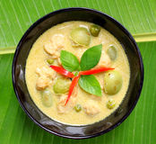 Green pork Curry. Thai food Royalty Free Stock Photography