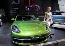 Green Porsche 911 car royalty free stock image
