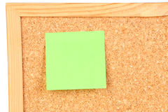 Green post-it Stock Image