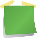 Green Post-it Royalty Free Stock Photos