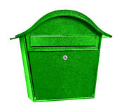 Green post box Royalty Free Stock Photos
