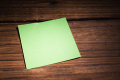 A Green post it note Royalty Free Stock Photos