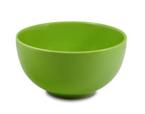 Green pot. On white background stock images