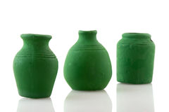 Green pottery Stock Photos