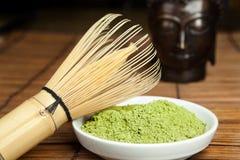 Green powder tea Stock Photo