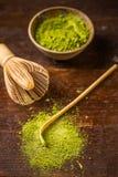 Green powder tea Royalty Free Stock Photography