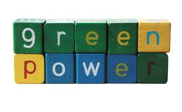 Green power. The phrase 'green power', isolated on white Stock Photography