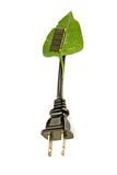 Green power. A leaf with a solar cell to make power Stock Photography