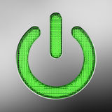 Green power button vector illustration