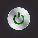 Green Power Button. Stock Photo