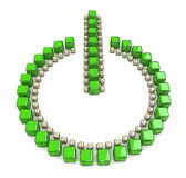 Green power button  on a white background Royalty Free Stock Photo