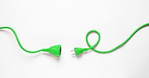 Green Power Cable Stock Images