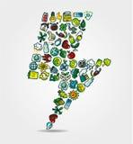 Green Power eco card Stock Photo