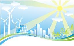 Green power environment. Recycle Green energy environment illustration Stock Photo