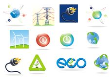Green power icon Royalty Free Stock Image