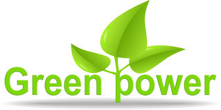 Green power illustration Stock Images