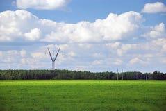 Green power line Royalty Free Stock Photos