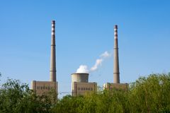 Green power plant environment Royalty Free Stock Images