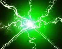 Green Power Plasma Energy. Detail of green plasma energy electricity symbol power Stock Images