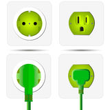 Green power plug Royalty Free Stock Image