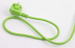 Green power plug Stock Photography