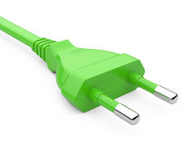 Green power plug Royalty Free Stock Photo
