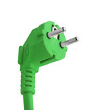 Green Power Plug Saving Energy Isolated Stock Images