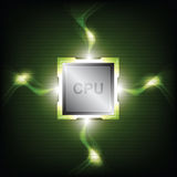 Green power processor Royalty Free Stock Photo