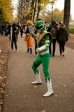 Green Power Ranger at Lucca Comics and Games 2017 Royalty Free Stock Photos