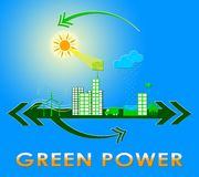 Green Power Showing Eco Energy 3d Rendering Stock Images