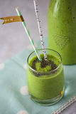 A Green Power Smoothie with Chia Seeds Royalty Free Stock Photos