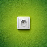Green power socket Royalty Free Stock Images