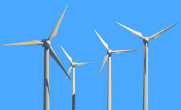 Green power source (wind turbines) Royalty Free Stock Photo