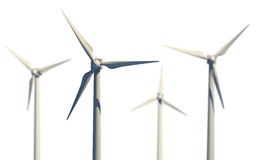 Green power source (wind turbines) Royalty Free Stock Image