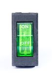 Green power switch button Stock Image