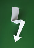 Green power. Symbol made of paper with green background Royalty Free Stock Images