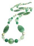 Green precious beads Royalty Free Stock Photo