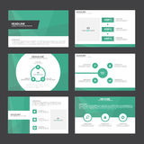 Green presentation templates Infographic elements flat design set for brochure flyer leaflet marketing Royalty Free Stock Image